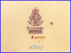 10 Royal Worcester Rosemary Sky Blue White Luncheon Plates 1920's +bonus Plate