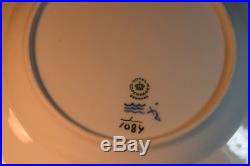 13 Vintage Royal Copenhagen Blue and White Fluted Full Lace Dinner Plates