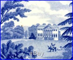 1815 Princess Charlotte-Claremont Surrey-Blue White Transferware Pearlware Plate