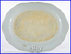 18C Chinese Export Blue & White Porcelain Basket Weave Border Plate Platter 10