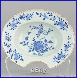 18c Kangxi / Yongzheng Barber Basin Blue & White Rare Chinese Porcelain