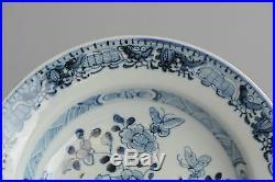 18c Qing Qianlong Blue White Porcelain Plate Chinese China Antique