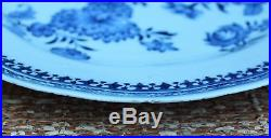 18th C Chinese Porcelain Plate Charger Blue & White Nanking Qianlong Export 10