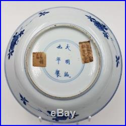 18th Century Chinese Blue and White Plate Kangxi Period