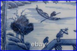 18th Century Chinese Export Blue & White Dish Qianlong Octagonal dish