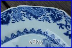 18th Century Chinese Export Blue & White Dish Qianlong Octagonal dish #2