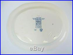 1932 Yale College and State House. Wedgwood Blue/White Plate Platter