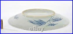 19C Chinese Export Nanking Blue & White Porcelain Bamboo Charger Plate 37CM 14D