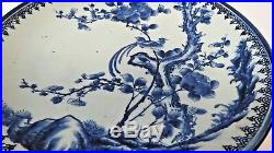 19th Century Chinese Qing Dynasty IMARI Blue White 14.5 Plate 130 Years Old