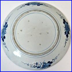 19th Century Chinese Qing Dynasty IMARI Blue White 18.5 Plate 130 Years Old