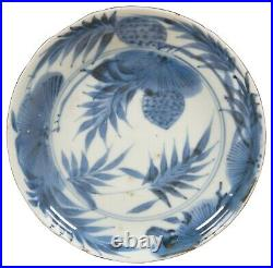 2 18th Century Antique Kangxi Blue & White Chinese Porcelain Plates Dish 7