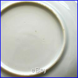 2 18th Century Chinese Blue & White Porcelain Dish Plate Saucer Phoenix