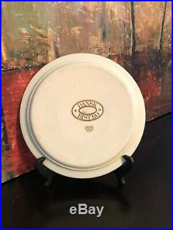 4 Dansk Bistro Fredriksborg Blue White Dinner Plates VINTAGE Japan RARE DANFREB