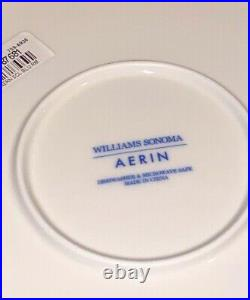 4 New Aerin Lauder Williams Sonoma Blue Scalloped Platter Dinner Plates Chargers