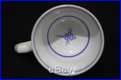 4pc Vintage Villeroy & Boch Dresden BLUE/WHITE Cup, Saucer & Oval Plates Set