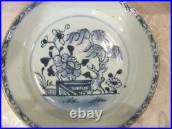 5 Antique Chinese Blue and White Plates Kangxi Period