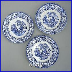 9 19thC Colandine Blue & White Plates Llanelly Pottery Antique Transferware