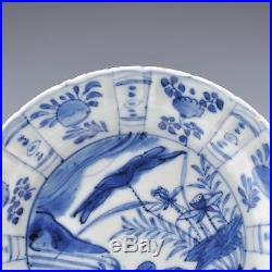 A16Th CT Chinese Blue & White Porcelain Ming Dynasty Kraak Porcelain Wanli Plate
