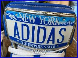 ADIDAS JEREMY SCOTT JS LICENSE PLATE NEW YORK UK 9 US 9.5 USED But VGC