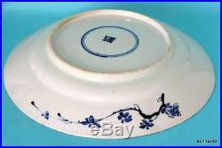 ANTIQUE 18thc CHINESE PORCELAIN BLUE WHITE UNDER GLAZED KANGXI CHARGER PLATE