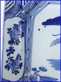 ARITA BLUE and WHITE RARE OCTAGONAL SERVING PLATE CA 1920
