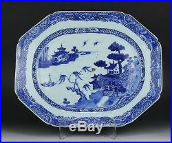 A Chinese Export Blue & White Porcelain Platter