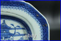 A Chinese Export Blue and White Porcelain Platter