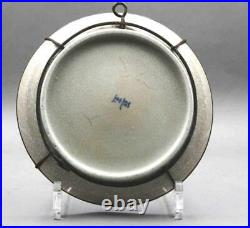 A Chinese Ge Ware Celadon Blue & White Plate China Qing Dynasty