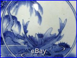 A Fine Blue & White Arita (Ko-Imari) Porcelain Dish With Sweetfish. Edo Late 17