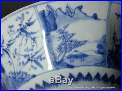 A Fine Early Qing Blue & White Heirloom Faceted Porcelain Bowl. Shunzhi/Kangxi