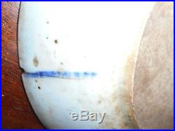 A GROUP OF 18th C CHINESE BLUE & WHITE PLATES DECORATED With FISH (CARP) & WAVES
