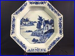 A Large Antique Chinese Blue And White Plate 18th Century