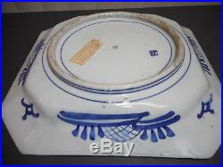 A Large Japanese Arita Blue & White Charger Willow Pattern Late Edo Period