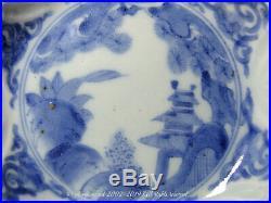A Very Unusual Blue & White Arita (Ko-Imari) Moulded Dish. Edo, 17th-18th