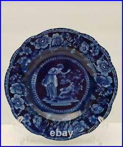 Adams Sons Staffordshire Cupid Psyche Bread Plate Circa 1804-40 Hard To Find