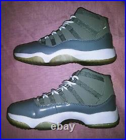 Air Jordan 11 Basketball Shoes Mens Size 10 White Cool Gray Preowned GC