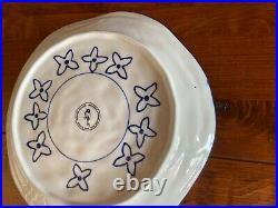 Anthropologie GLORIOSA Set of 5 Salad Plates Blue White Color