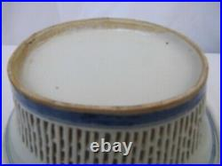 Antique18c Chinese Export Blue & White Porcelain Reticulated Basket & Plate Set