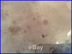 Antique 11.5 Blue&White Asiatic Pheasants Meat Plate Platter Bovey Tracey Devon