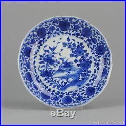 Antique 1680-1700 Arita Japanese Plate Blue White Dish Rare Scene