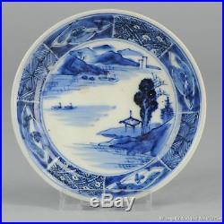 Antique 17 / 18th c Arita Porcelain Plate Japan Japanese Blue & White