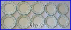 Antique 1895 Cauldon England Blue And White Luncheon Plates Set Of 10