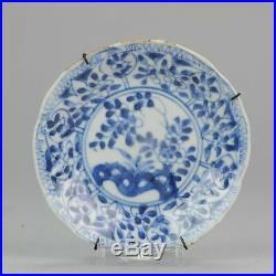 Antique 18C Chinese Porcelain Blue White Tea Saucer Tea Drinking Dish