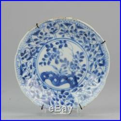 Antique 18C Chinese Porcelain Blue White Tea Saucer Tea Drinking Dish