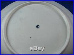 Antique 18thC Worcester Porcelain Blue & White Plate Bowl Dish England English