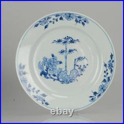 Antique 18th Century Chinese Porcelain Yongzheng/Qianlong Blue And White Plat