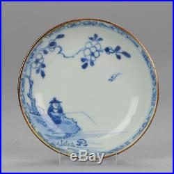 Antique 18th Dish Qing Chinese Porcelain China Blue & White