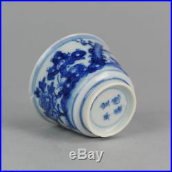 Antique 18th c Chinese Porcelain Blue & White Jar Qing Kangxi Butterfly