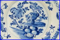 Antique 18th century Delft Blue & White chinoiserie Plate 22 cm / 8.8 inch (nr1)