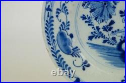 Antique 18th century Delft Blue & White chinoiserie Plate 22 cm / 8.8 inch (nr2)